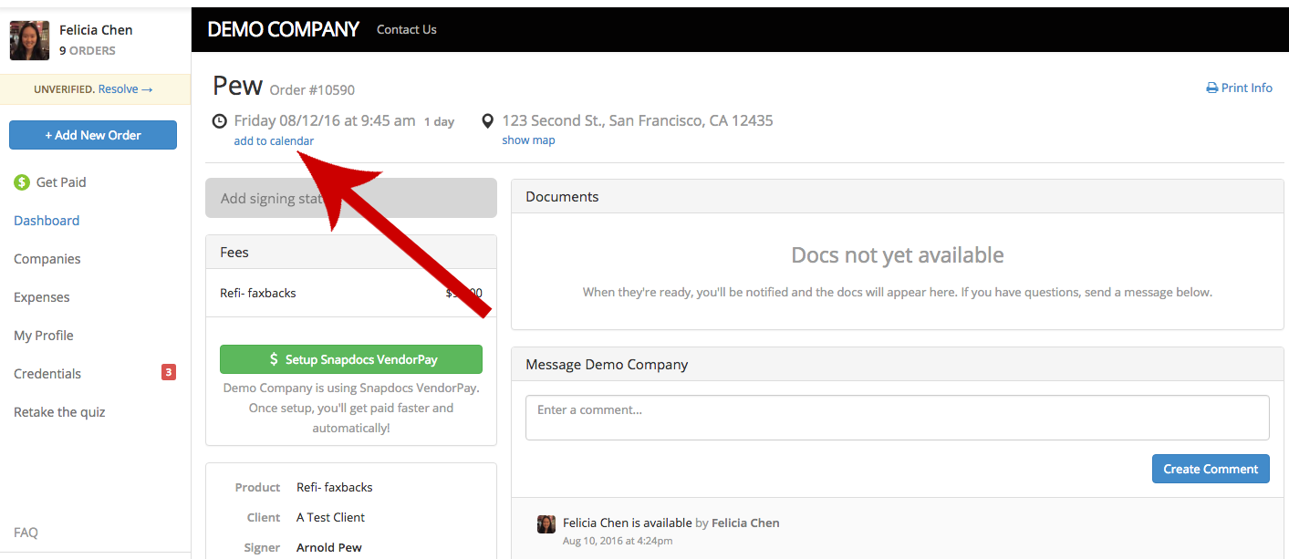How can I add my signing appointments to my calendar? – Snapdocs